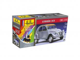 Heller maquette voiture 56175 Citroen 2CV Inclus peintures principale colle et pinceau 1/43