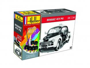 Heller maquette voiture 56764 4CV Pie Inclus peintures principale colle et pinceau 1/24