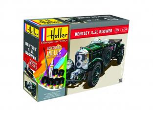 Heller maquette voiture 56722 Bentley 4,5L Blower Inclus peintures principale colle et pinceau 1/24