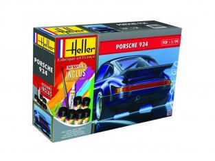 Heller maquette voiture 56714 Porsche 934 Inclus peintures principale colle et pinceau 1/24