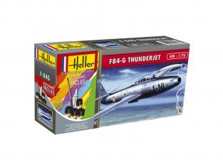 Heller maquette avion 56278 F-84G Thundejet Inclus peintures principale colle et pinceau 1/72