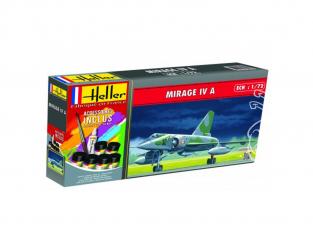 Heller maquette avion 56351 Mirage IV A Inclus peintures principale colle et pinceau 1/72