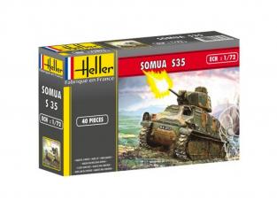 Heller maquette militaire 56875 Somua S35 Inclus peintures principale colle et pinceau 1/72