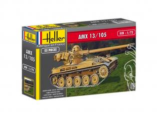 Heller maquette militaire 56874 AMX 12/105 Inclus peintures principale colle et pinceau 1/72