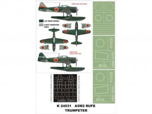 Montex Super Mask K24031 A6M2-N Rufe Trumpeter 1/24