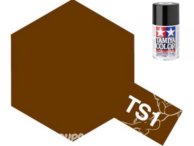 peinture maquette tamiya bombe ts01 rouge marron
