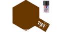 peinture maquette tamiya bombe ts01 rouge marron mat