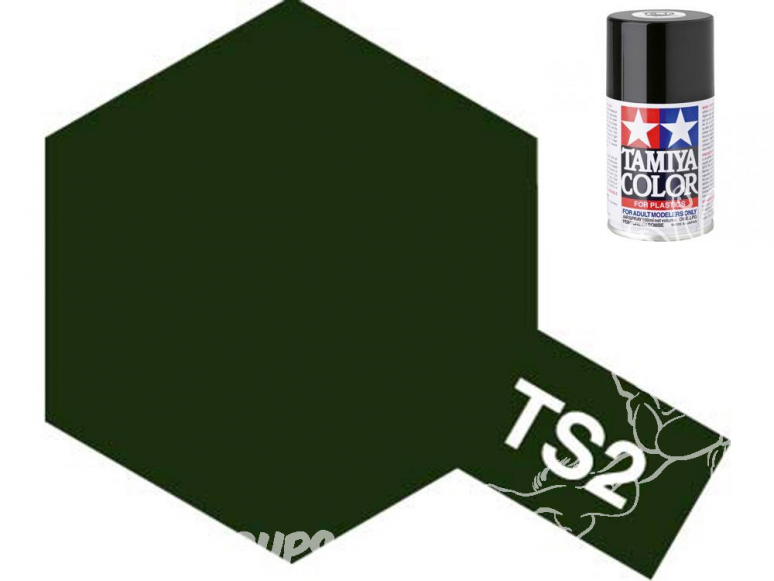 peinture maquette tamiya bombe ts02 vert foncé