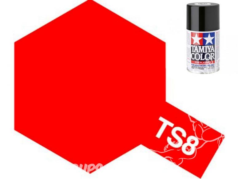 peinture maquette tamiya bombe ts08 rouge italien