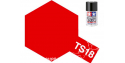 peinture maquette tamiya bombe ts18 rouge metal brillant