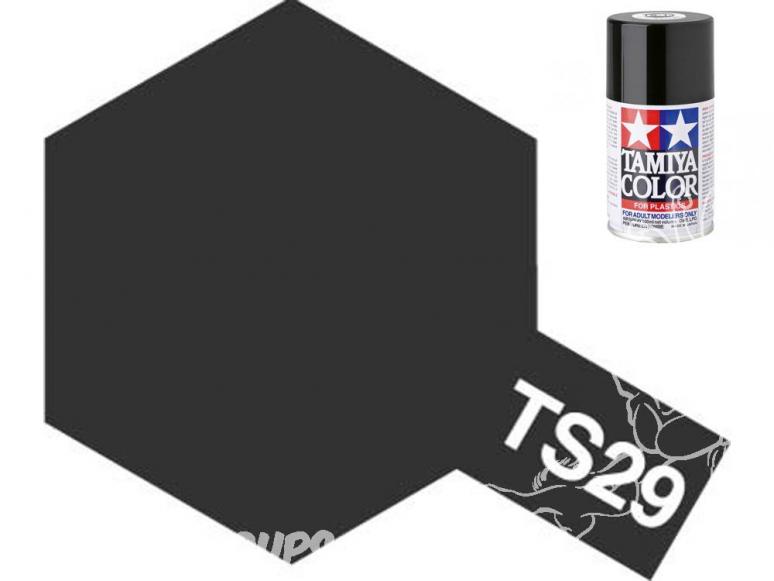peinture maquette tamiya bombe ts29 noir satin
