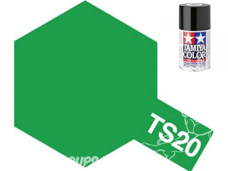 peinture maquette tamiya bombe ts20 vert metal