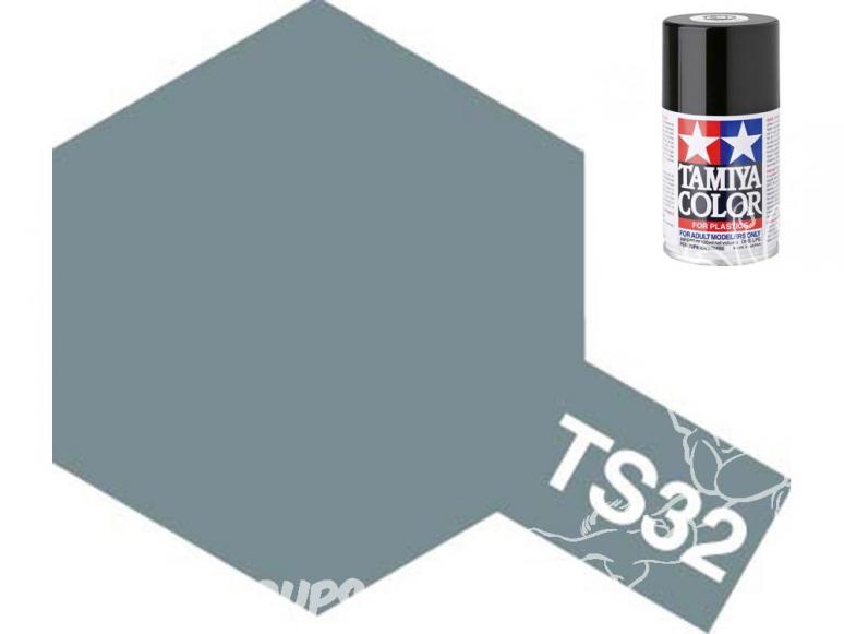 peinture maquette tamiya bombe ts32 gris brumeux