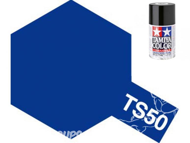 peinture maquette tamiya bombe ts50 bleu mica