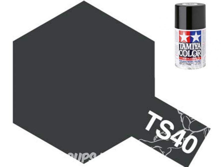 peinture maquette tamiya bombe ts40 noir metal