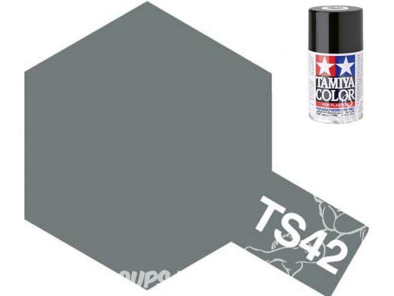 peinture maquette tamiya bombe ts42 gun metal clair