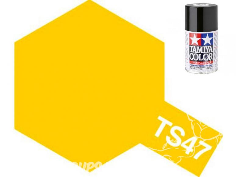peinture maquette tamiya bombe ts47 jaune chrome