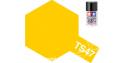 peinture maquette tamiya bombe ts47 jaune chrome brillant