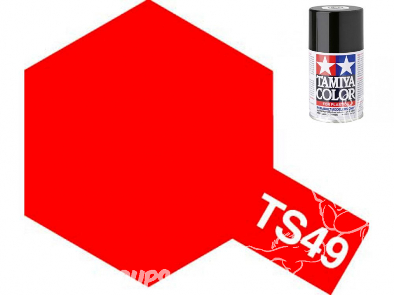 peinture maquette tamiya bombe ts49 rouge brillant