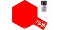 peinture maquette tamiya bombe ts49 rouge vif brillant