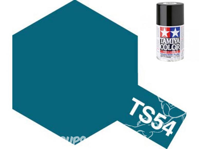 peinture maquette tamiya bombe ts54 bleu metal clair