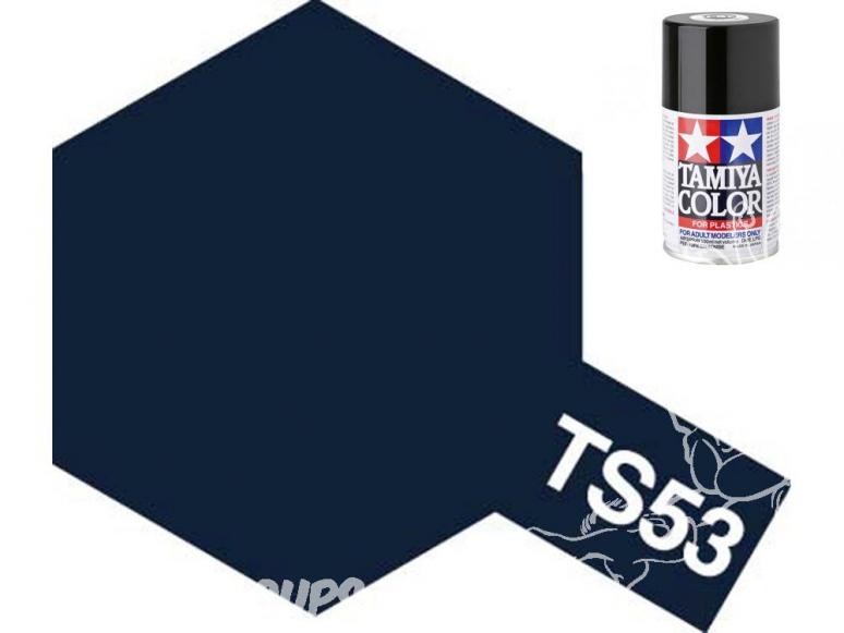 peinture maquette tamiya bombe ts53 bleu metal