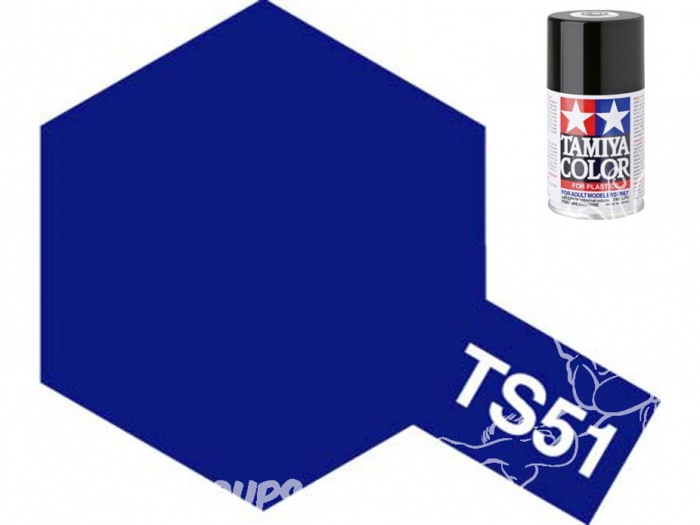 peinture maquette tamiya bombe ts51 bleu racing
