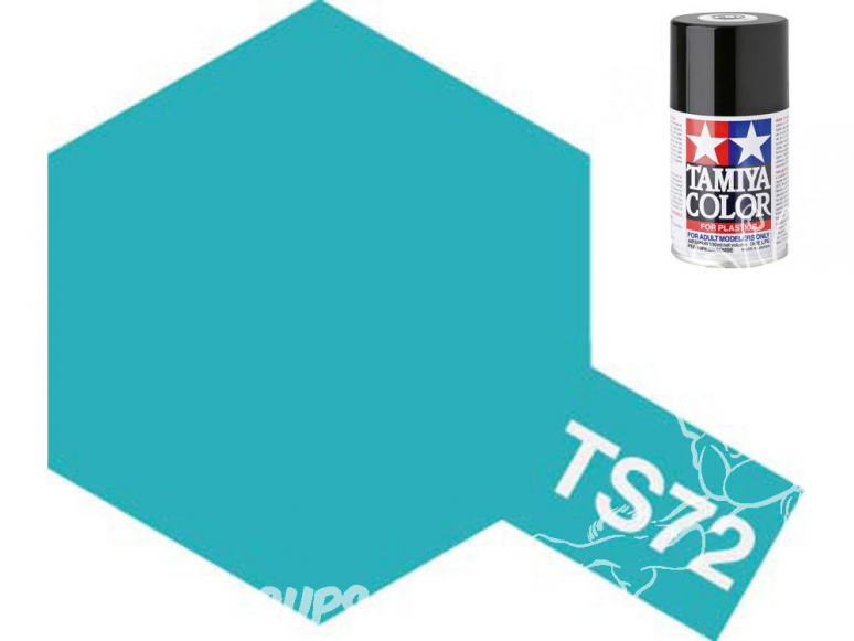 peinture maquette tamiya bombe ts72 bleu translucide