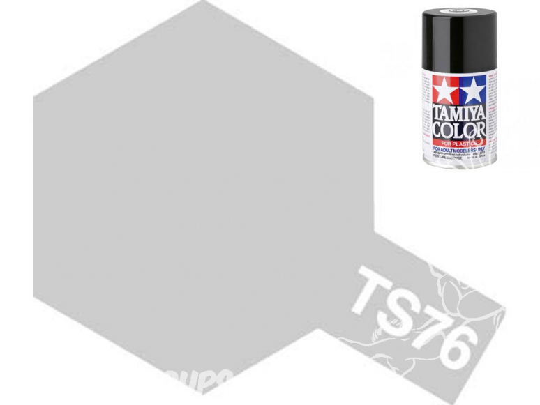 peinture maquette tamiya bombe ts76 argent clair metal