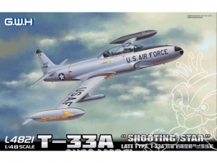 """Great Wall Hobby maquette avion L4821 T-33A """"Shooting Star"""" Type fin de production 1/48"""