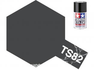 peinture maquette TAMIYA bombe ts82 noir caoutchouc