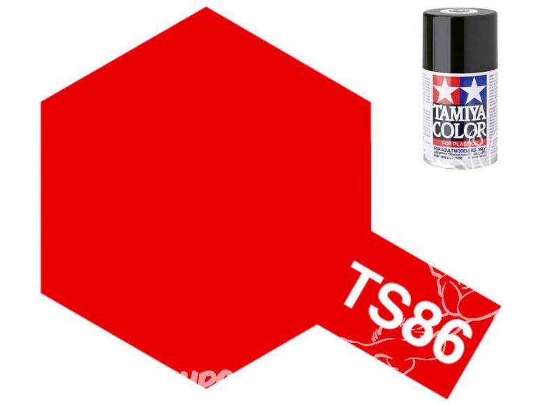 peinture maquette TAMIYA bombe ts86 Rouge Ferrari brillant