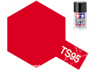 Peinture maquette tamiya bombe ts95 Rouge pur metallic brillant