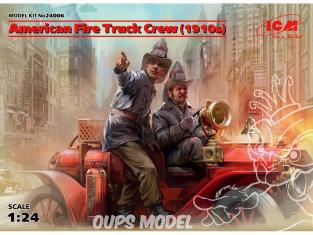 Icm maquette voiture 24006 Pompier americain sans voiture 1910 (2 figurines) (100% nouveaux moules) 1/24
