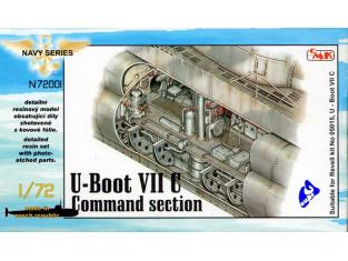 CMK Maquettes Bateau n72001 COMPARTIMENT DE COMMANDEMEN U-BOAT 1