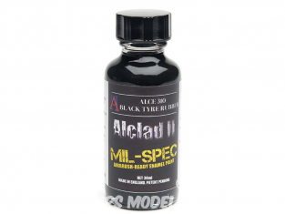 Peinture enamel Alclad II Mil-Spec ALCE310 Utilisation a l'aérographe Noir pneus 30ml