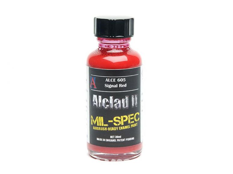 Peinture enamel Alclad II Mil-Spec ALCE605 Utilisation a l'aérographe rouge signal 30ml