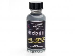 Peinture enamel Alclad II Mil-Spec ALCE610 Utilisation a l'aérographe gris mod eagle 30ml