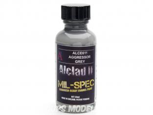 Peinture enamel Alclad II Mil-Spec ALCE611 Utilisation a l'aérographe gris agressor 30ml