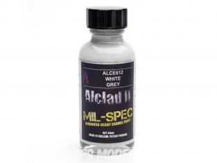 Peinture enamel Alclad II Mil-Spec ALCE612 Utilisation a l'aérographe blanc gris 30ml