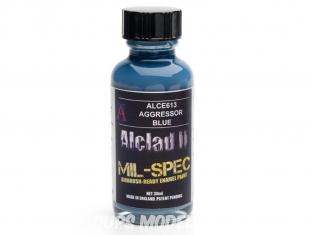 Peinture enamel Alclad II Mil-Spec ALCE613 Utilisation a l'aérographe bleu agressor 30ml