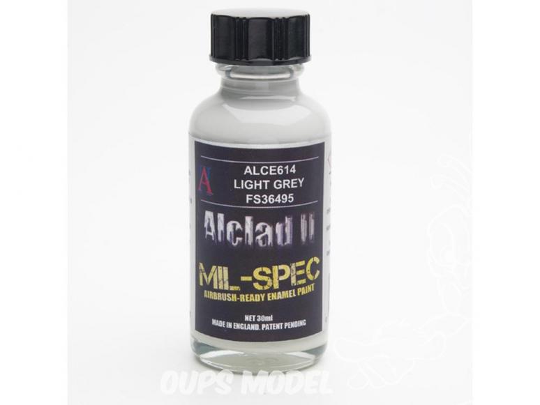 Peinture enamel Alclad II Mil-Spec ALCE614 Utilisation a l'aérographe gris clair russe 30ml