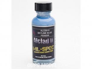 Peinture enamel Alclad II Mil-Spec ALCE615 Utilisation a l'aérographe bleu horizon russe 30ml