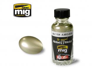 MIG peinture Alclad II 8218 Metal brûlé pâle - Pale burnt metal ALC104 30ml
