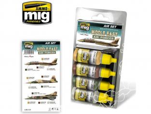 MIG peinture 7217 Set couleurs Air Forces Moyen-Orient 4 x 17ml