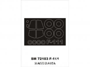 Montex Mini Mask SM72103 F-111 Aardvark Hasegawa 1/72
