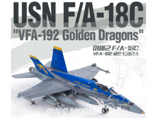 Academy maquette avion 12564 USN F/A-18C VFA-192 Golden Dragons 1/72