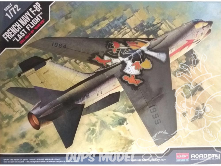 Academy maquette avion 12559 F-8P Marine française dernier vol 1/72