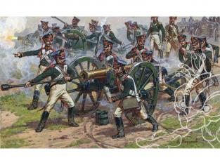 Zvezda maquette figurines 8045 Artillerie Russe 1812 - 1814 1/72