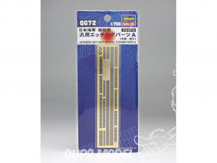 Hasegawa amelioration bateau 72172 set de photodecoupe pour tous bateaux japonais set A 1/700